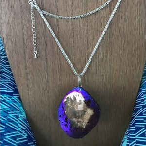 WOW!  Mighty geode slice necklace